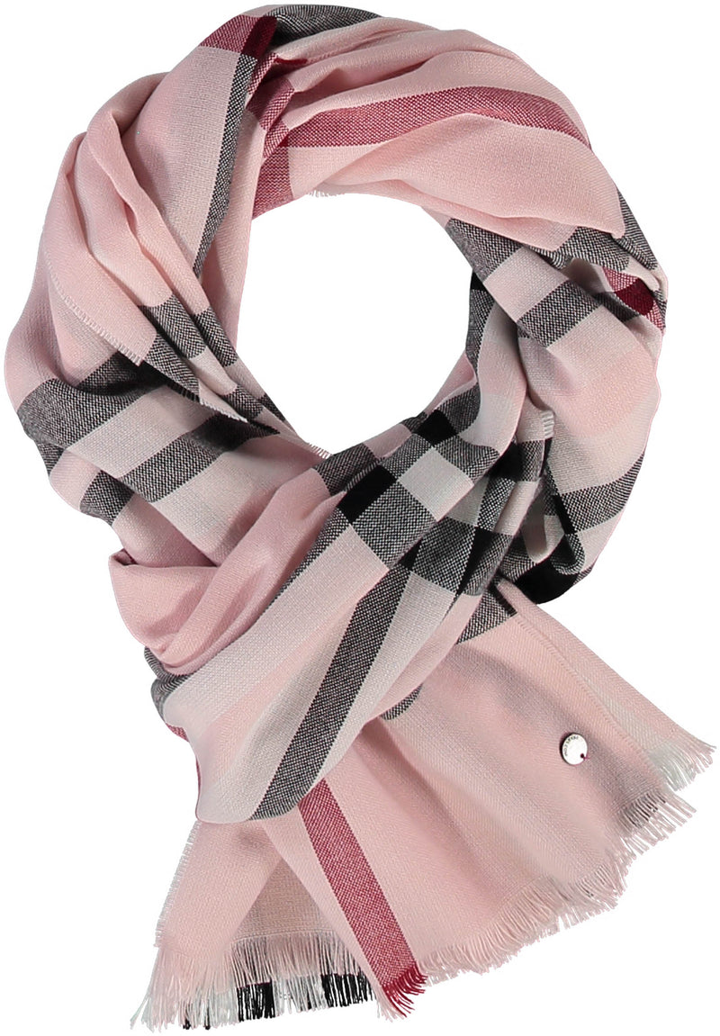 Lightweight Fraas Plaid Scarf Accessories - The Post Office by Shannon Passero. Fashion Boutique in Thorold, Ontario