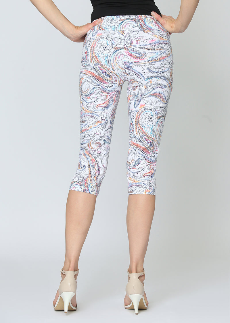 Coral Reef Jacquard Ankle Pant Bottoms - The Post Office by Shannon Passero. Fashion Boutique in Thorold, Ontario