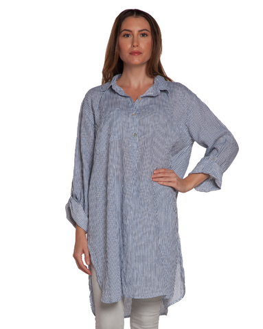 Stripe Linen Pocket Tunic