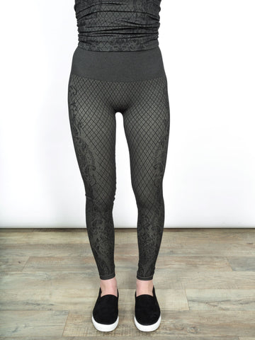 High Waist Leggings-Victorian Mesh by Shannon Passero