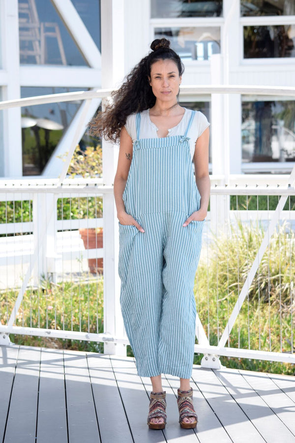 Striped Overall Coverups - The Post Office by Shannon Passero. Fashion Boutique in Thorold, Ontario