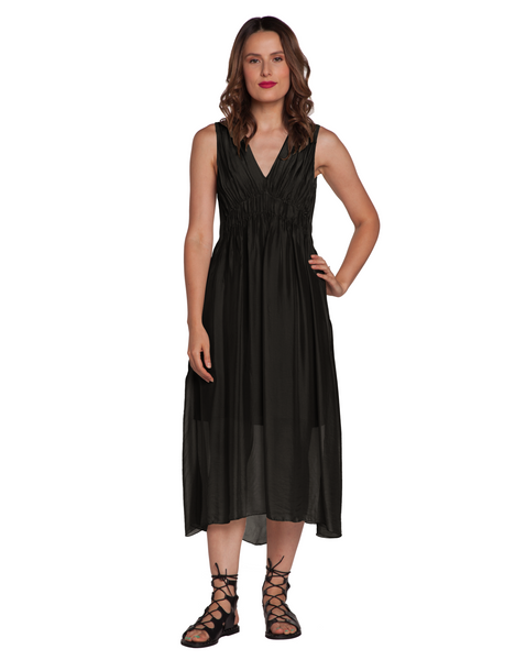 Gretian Vneck Dress Baci Canada