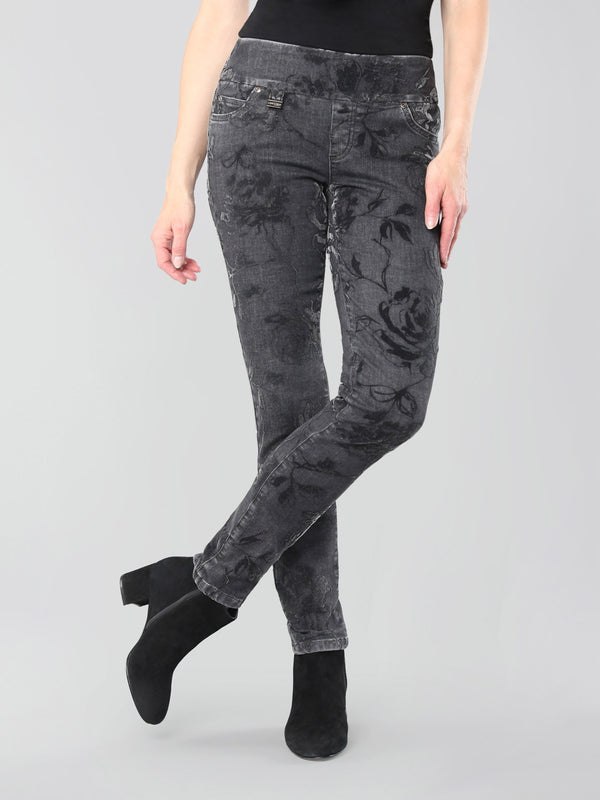 Dusk Floral Slim Ankle Pant Bottoms - The Post Office by Shannon Passero. Fashion Boutique in Thorold, Ontario