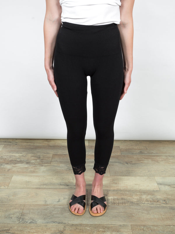 Lace Trim Legging Bottoms - The Post Office by Shannon Passero. Fashion Boutique in Thorold, Ontario