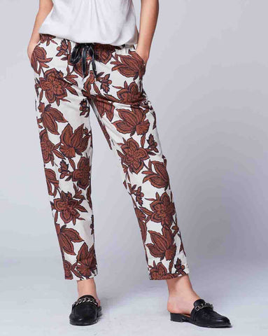 Damask Floral Drawstring Pant Bottoms - The Post Office by Shannon Passero. Fashion Boutique in Thorold, Ontario