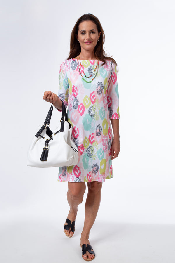 3/4 Sleeve Boatneck Dress Dresses - The Post Office by Shannon Passero. Fashion Boutique in Thorold, Ontario
