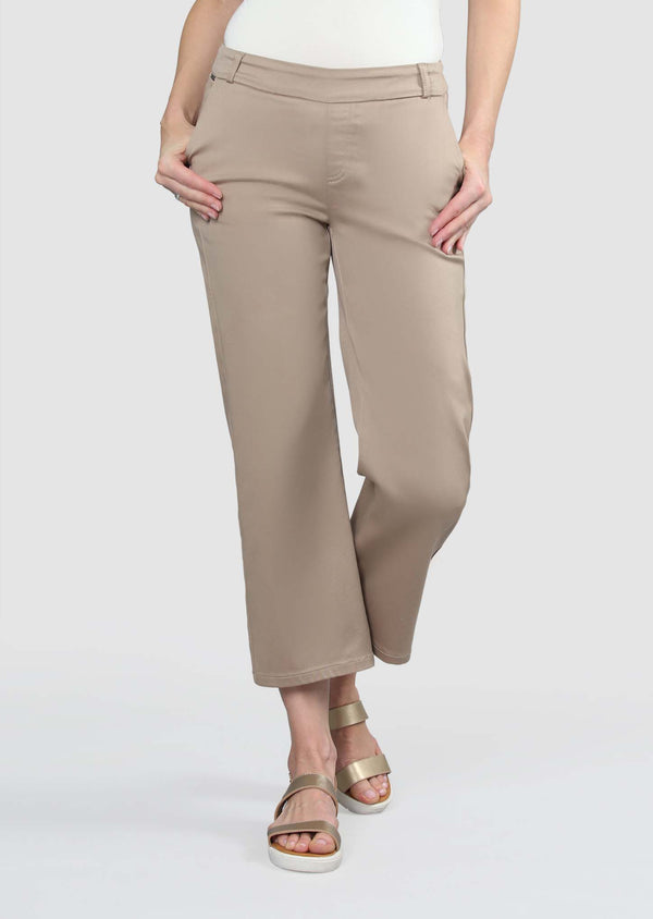 Lena Denim Cropped Trouser Bottoms - The Post Office by Shannon Passero. Fashion Boutique in Thorold, Ontario