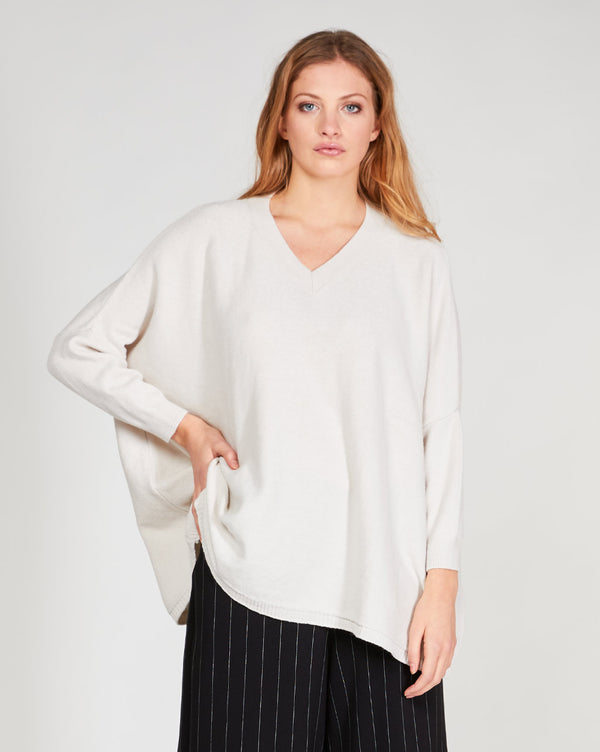 V-Neck Batwing Sweater Tops - The Post Office by Shannon Passero. Fashion Boutique in Thorold, Ontario
