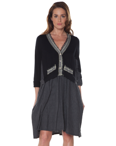 V- Neck Cardigan Top Dress Baci