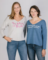 Vneck Pullover - Future Female Tops - The Post Office by Shannon Passero. Fashion Boutique in Thorold, Ontario