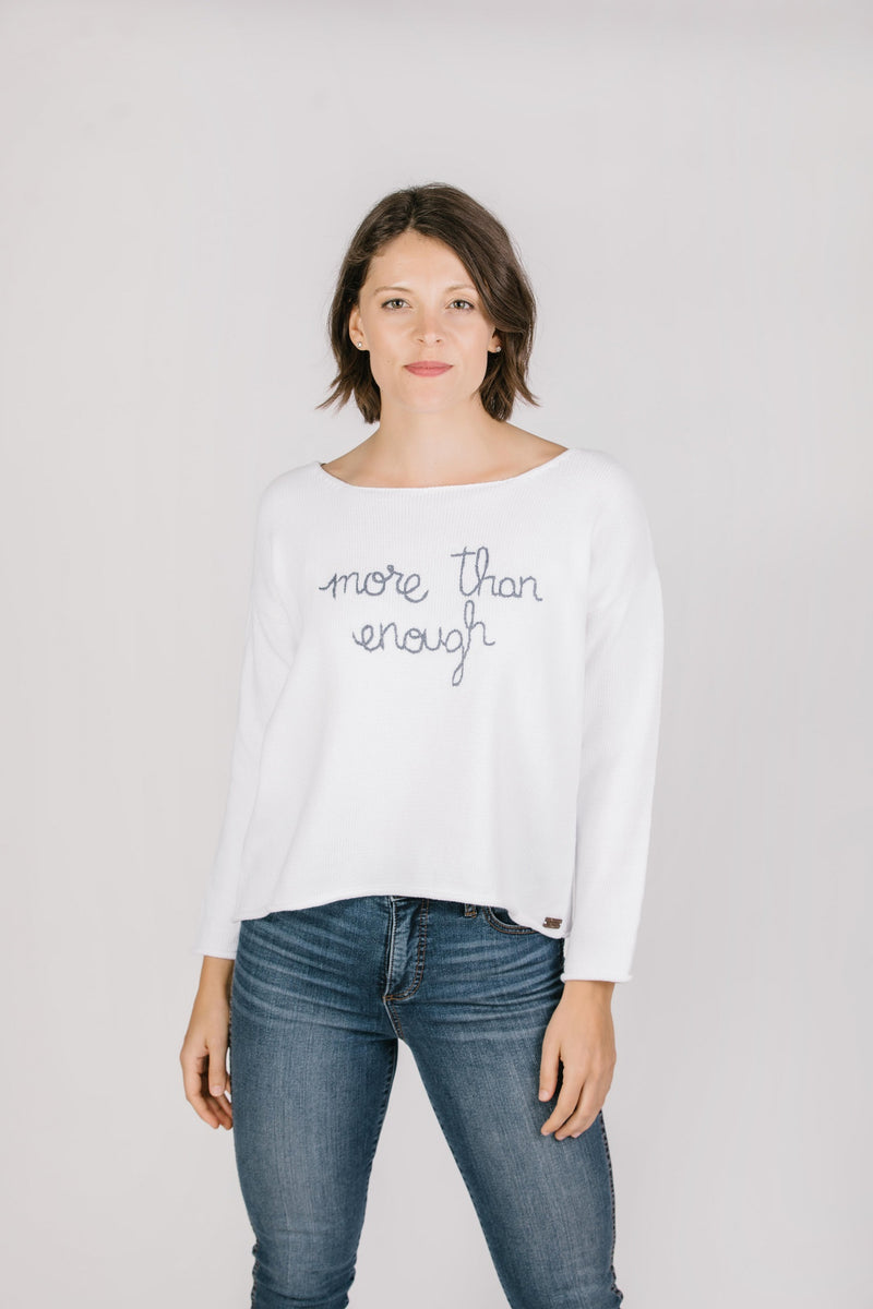 Crewneck Pullover - Enough Tops - The Post Office by Shannon Passero. Fashion Boutique in Thorold, Ontario
