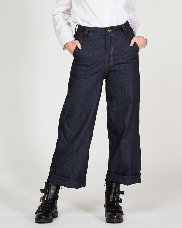 Wide Leg Denim Pant Bottoms - The Post Office by Shannon Passero. Fashion Boutique in Thorold, Ontario
