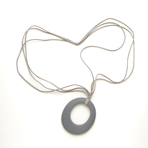 Resin Oval on Suede Necklace