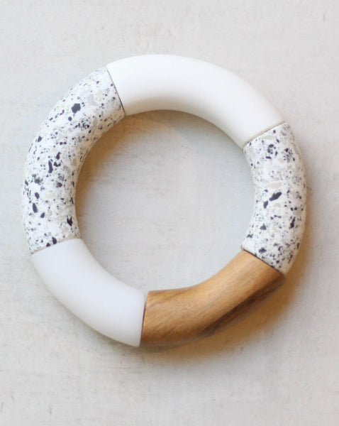 White and Wood Resign Bracelet Sylca Designs Canada