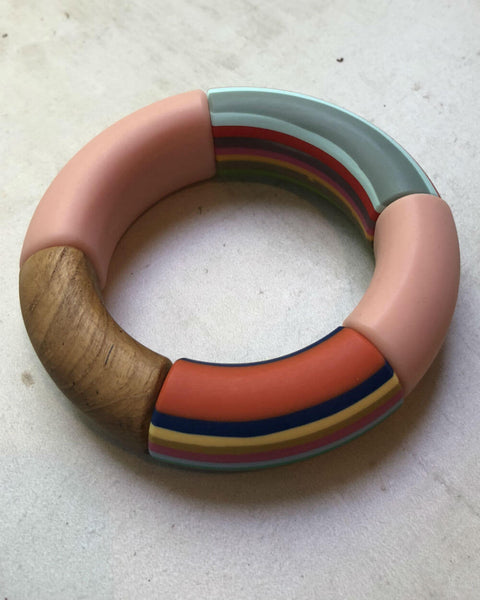 Pink and Multi Resign Bracelet