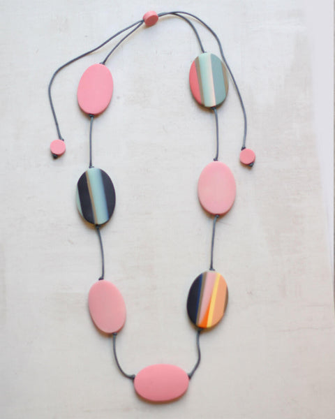 Pink Statement Misha Necklace Sylca Designs Canada