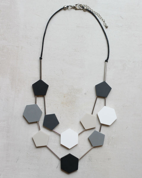 Double Strand Geo Necklace