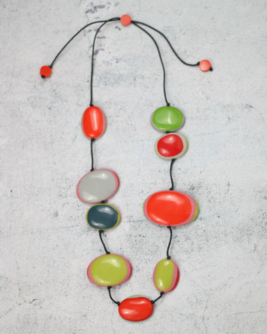 Multicolour Jade Necklace