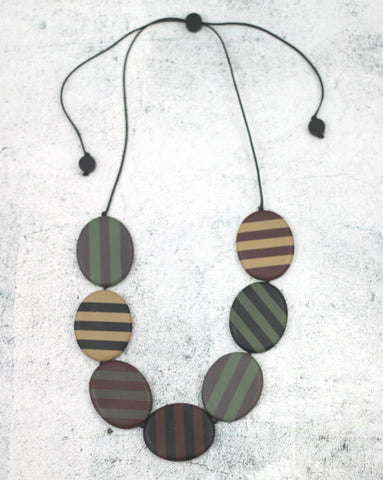 Forest Striped Stella Necklace