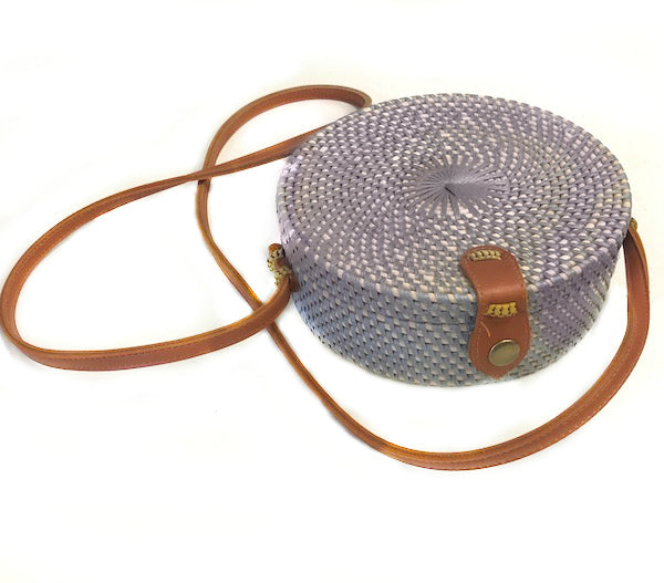 Round Rattan Bag Accessories - The Post Office by Shannon Passero. Fashion Boutique in Thorold, Ontario