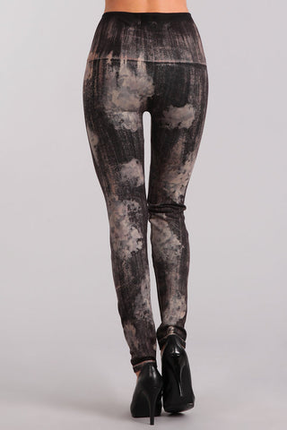 Camo Print Denim Legging