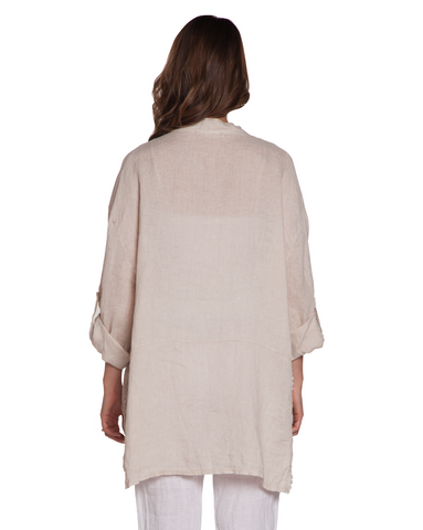 Side Slit Linen Tunic