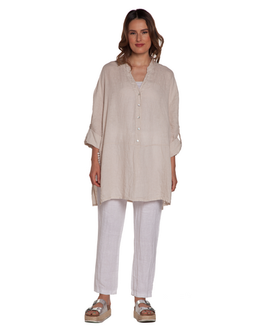 Side Slit Linen Tunic Baci Canada