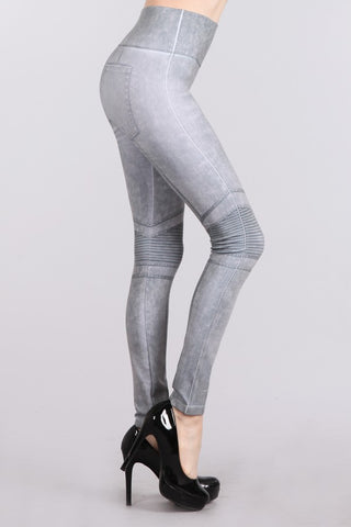 Moto Denim Legging
