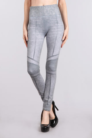 Moto Denim Legging by M Rena