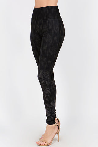 Ikat Bloom Print Leggings