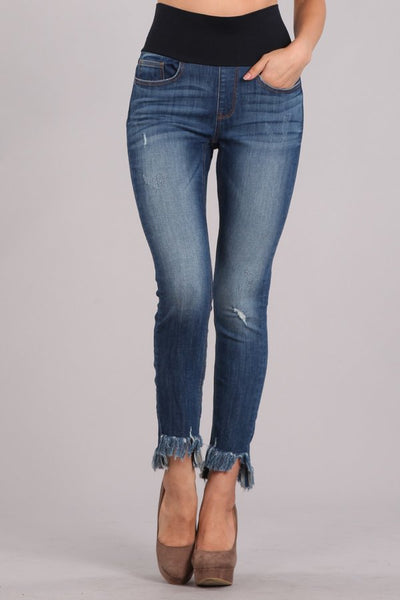 Fringe Bottom Jean Legging M. Rena Canada