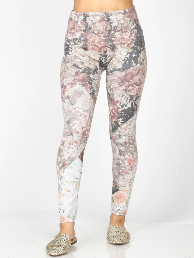 Quilted Floral Vintage Legging Bottoms - The Post Office by Shannon Passero. Fashion Boutique in Thorold, Ontario
