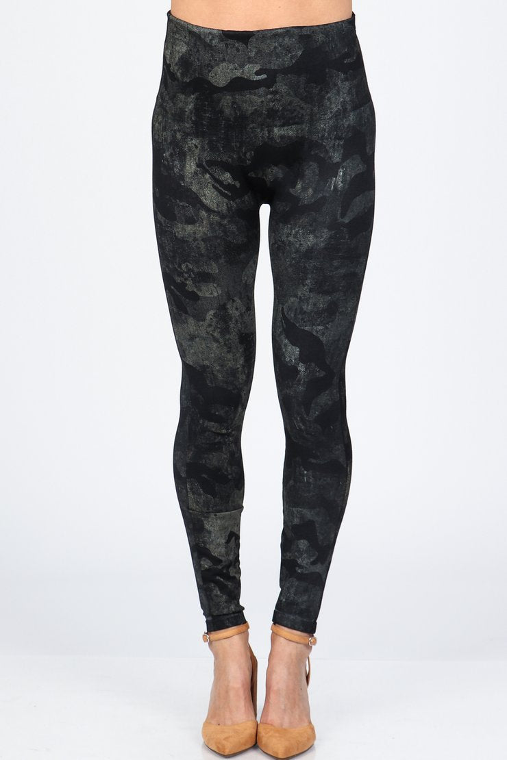 Distressed Camo Print Legging Bottoms - The Post Office by Shannon Passero. Fashion Boutique in Thorold, Ontario