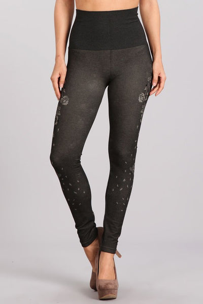 Cascading Roses Jacquard Tight M. Rena Canada
