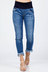 Frey Hem Crop Jeans Bottoms - The Post Office by Shannon Passero. Fashion Boutique in Thorold, Ontario
