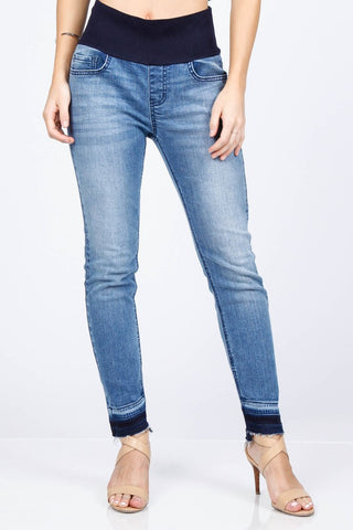 Ankle Jegging with Uneven Hem