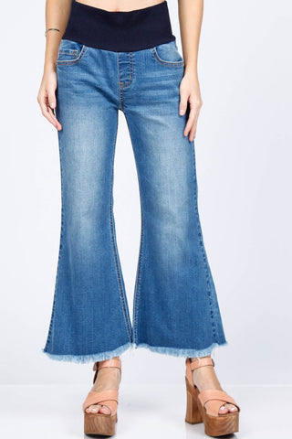 Ankle Wide Jeans with Fringe M. Rena Canada