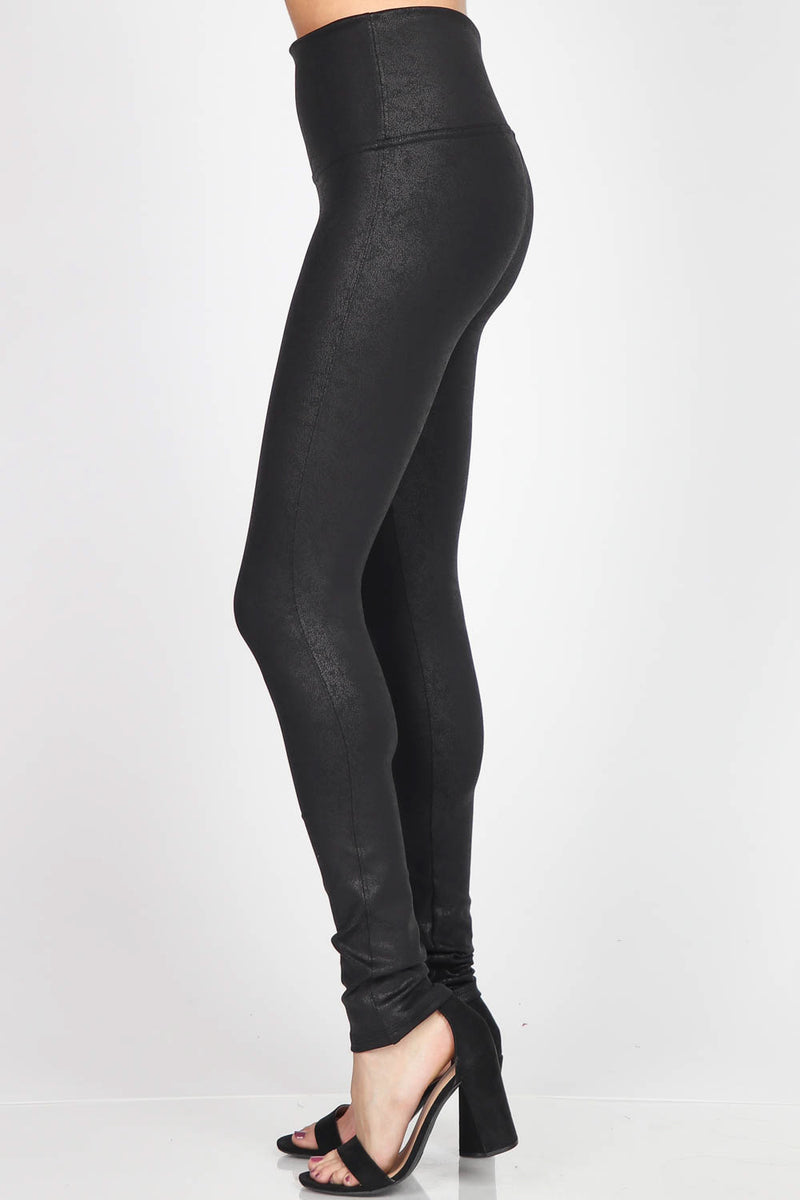 Antiqued Faux Leather Legging Bottoms - The Post Office by Shannon Passero. Fashion Boutique in Thorold, Ontario