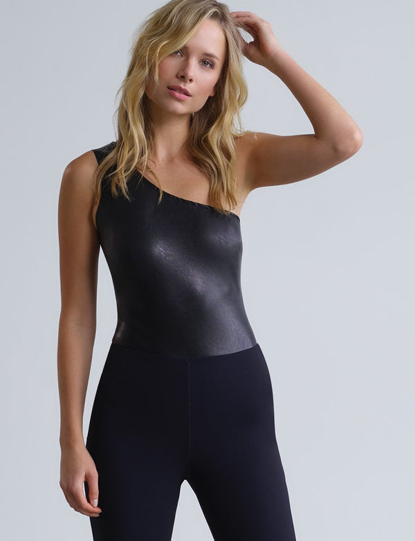 One Shoulder Faux Bodysuit Tops - The Post Office by Shannon Passero. Fashion Boutique in Thorold, Ontario