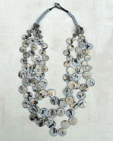 Grey Speckled Multi Strand Nk