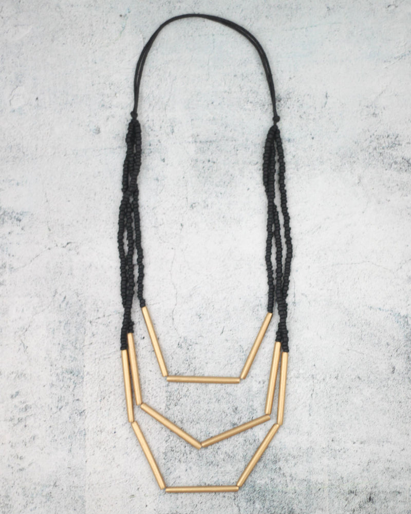 Thin Multi Aria Gold Necklace Jewelry - The Post Office by Shannon Passero. Fashion Boutique in Thorold, Ontario
