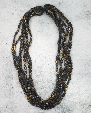 Gold Multi Lacey Necklace