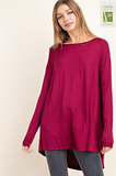 Boatneck Tiered Back Top