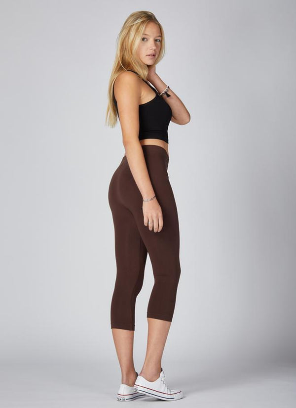 Bamboo Capri Legging Bottoms - The Post Office by Shannon Passero. Fashion Boutique in Thorold, Ontario