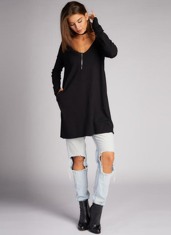 FW Vneck Tunic with Pockets