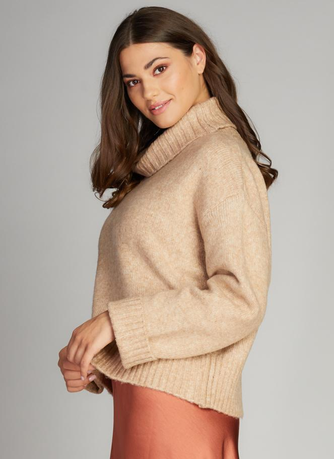 Knit Cowlneck Turtleneck Tops - The Post Office by Shannon Passero. Fashion Boutique in Thorold, Ontario