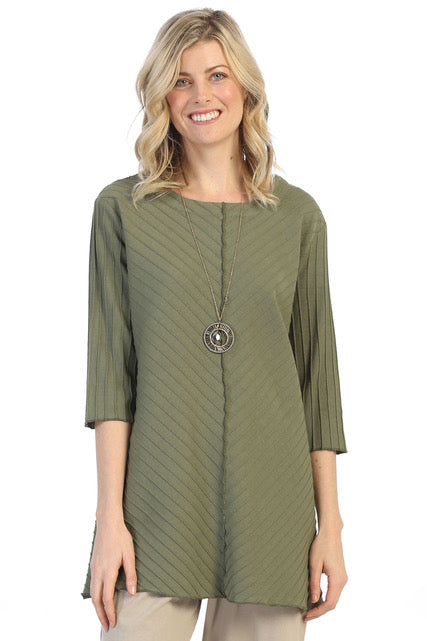 3/4 Sleeve Tunic Tops - The Post Office by Shannon Passero. Fashion Boutique in Thorold, Ontario