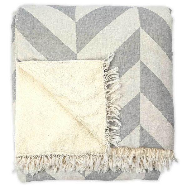 Large Chevron Fleece Throw Consignment Product - The Post Office by Shannon Passero. Fashion Boutique in Thorold, Ontario