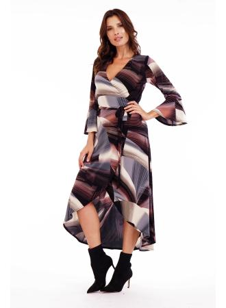 Lined Wrap Dress