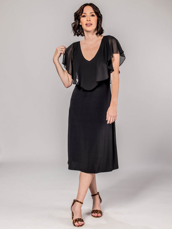 Chiffon Dress with Ruffle Top Dresses - The Post Office by Shannon Passero. Fashion Boutique in Thorold, Ontario